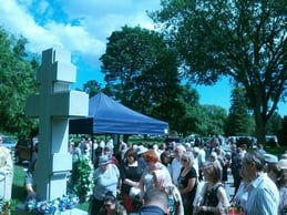 Crowd At Cemetery